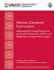 Women-Centered Curriculum: - Health Policy Initiative