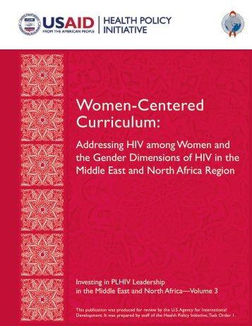 Women-Centered Curriculum: - Health Policy Initiative