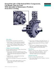 Extend the Life of Mechanical Drive Components ... - Dow Corning