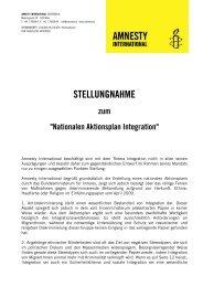 STELLUNGNAHME - Amnesty International Österreich