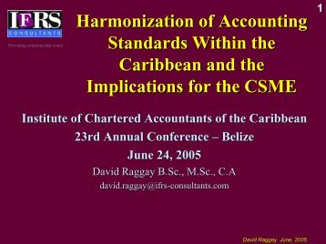 harmonisation of accounting standards essay