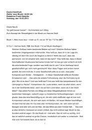 1 Deutschlandfunk Atelier neue Musik / 22.05 Uhr ... - Gisela Nauck