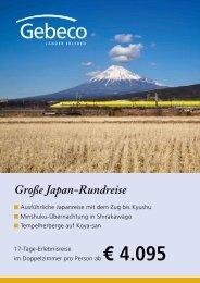 Große Japan-Rundreise - Gebeco GmbH & Co KG
