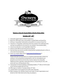 Owners, Pony & Young Riders Charity Show 2012 October 26 -28