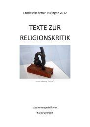 arten von religionskritik - Fachverband Ethik