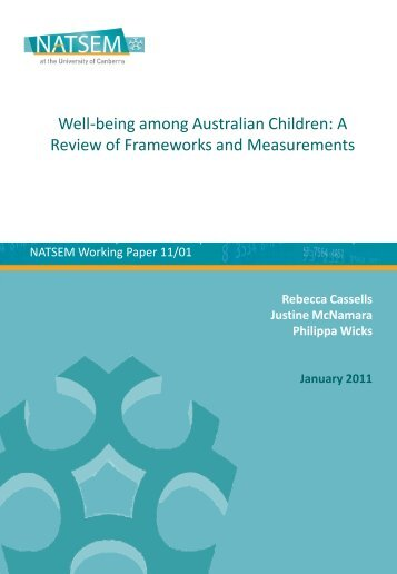 Well-being among Australian Children - NATSEM - University of ...
