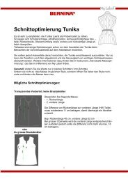 Schnittoptimierung Tunika