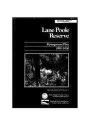 Lane Poole Reserve management plan - Department of ...