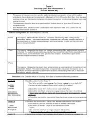 Assessment II Teacher Answer Key - Division of Language Arts ...