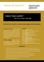 CREDIT RISK SUMMIT - Finance Concepts