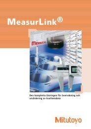 MeasurLink ® - Mitutoyo Scandinavia AB
