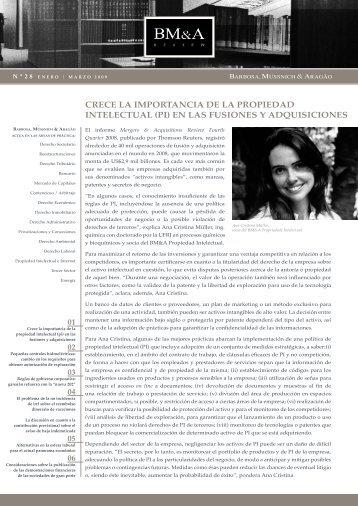 crece la importancia de la propiedad intelectual - Barbosa ...