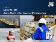 Tullow Oil plc Ghana Share Offer Investor Presentation - The Group