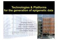 Technologies & Platforms for the generation of epigenetic data - EBI