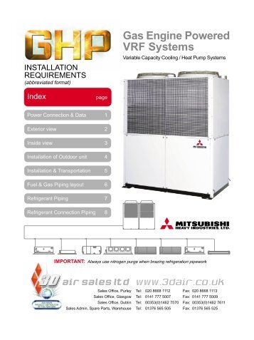 Gas Engine Powered VRF Systems