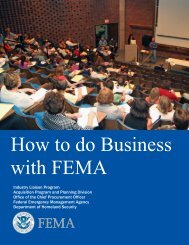 How to do Business with FEMA - Federal Emergency Management ...