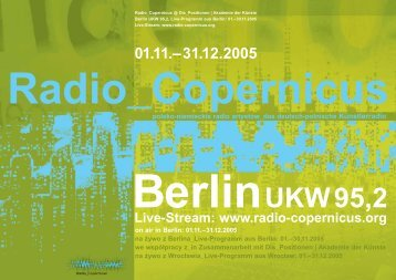 Live-Stream: www.radio-copernicus.org