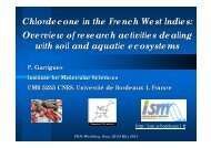 Chlordecone in the French West Indies: Overview of research ...