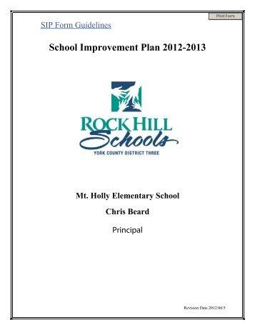 School Improvement Plan 2012-2013 - Mount Holly Elementary ...