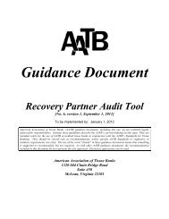 September 1, 2011 Recovery Partner Audit Guidance & Audit Tool
