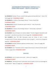 Elenco corsi validati il 2 - 3 luglio 2012 - Consiglio Nazionale dei ...