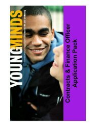 Contracts & Finance Officer Application Pack - YoungMinds