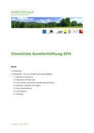 Checkliste 55 QK Komfortlüftung EFH V 1.1