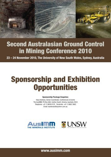 Sponsorship and Exhibition Opportunities - Australasian Institute of ...