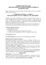 Bando di gara relativo a procedura aperta per l'aggiudicazione della ...