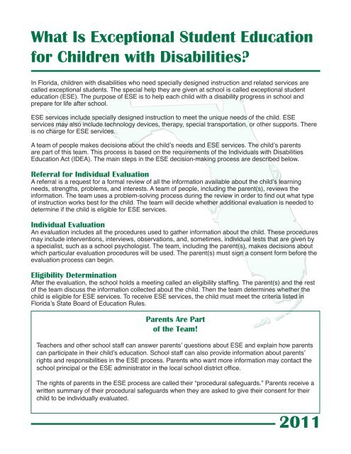 What Is Exceptional Student Education For Children With Disabilities
