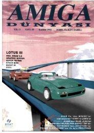 Amiga Dunyasi - Sayi 30 (Kasim 1992).pdf - Retro Dergi