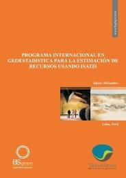 PROGRAMA INTERNACIONAL EN ... - Geovariances