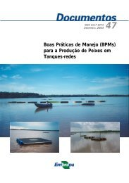 para a Produção de Peixes em Tanques-redes - Embrapa Pantanal
