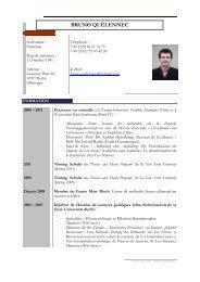 CV Bruno Quélennec - Centre Marc Bloch