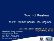 Water Pollution Control Plant Upgrade - SCAV-CSVA