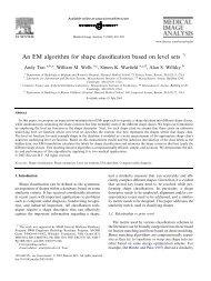 An EM algorithm for shape classification based on level sets