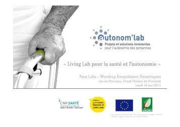 « Living Lab pour la santé et l'autonomie »