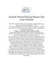 Scottish National Racing Pigeon Club Arras National