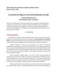 voir pdf - Patriarcat latin de Jérusalem