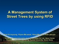 A Management System of Street Trees by using RFID