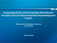 Integrating Green and Sustainable Remediation Practices into an ...