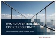 HVORDAN EFTERLEVES COOKIEREGLERNE? - Bech-Bruun