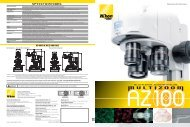 Broad application range, from high to lower ... - Nikon Instruments