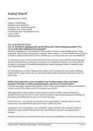 Last ned søknaden: Krabat Sheriff (PDF 420 KB) - Norsk Designråd