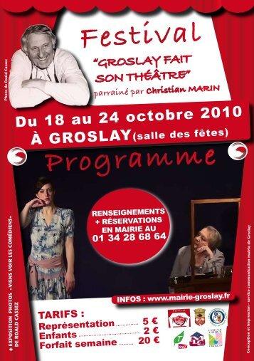 "Programme Festival ""GROSLAY FAIT SON THÉÂTRE"" - Vallée d'Art"
