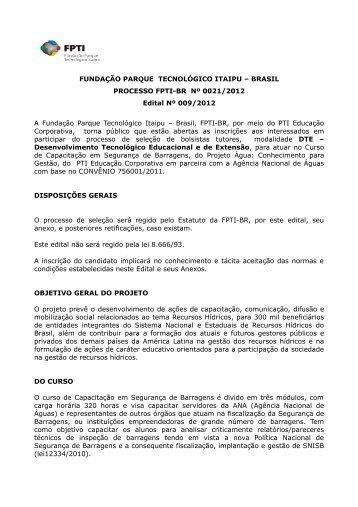 FUNDAÇÃO PARQUE TECNOLÓGICO ITAIPU – BRASIL ...