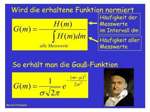 Anpassung einer Funktion an Messwerte - TCI @ Uni-Hannover.de