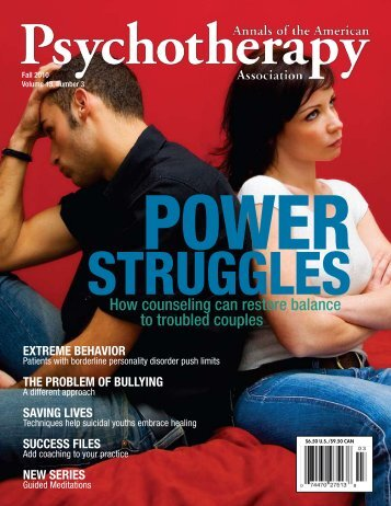 Annals - American Psychotherapy Association