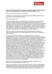 """Interview mit Marco Seliger, Autor des Buches """"Sterben für Kabul ..."""