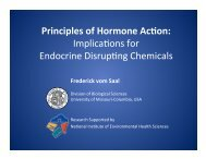 Principles of Hormone Action: Implications for Endocrine Disrupting